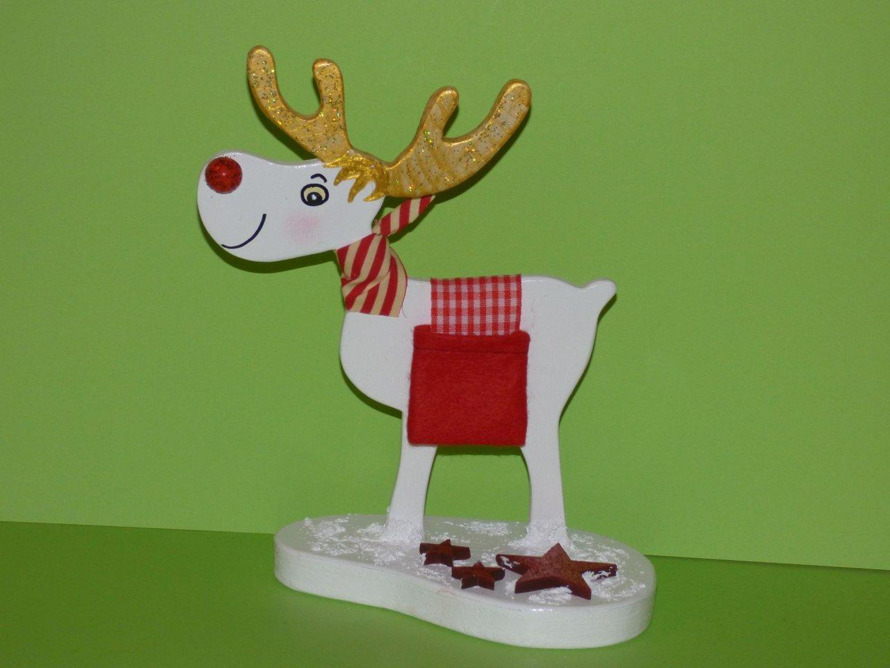 Winterdeko elch josef weihnachten holz allerlei for Besondere dekoartikel